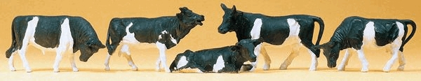 乳牛5頭 :プライザー 塗装済完成品 HO(1/87) 14155