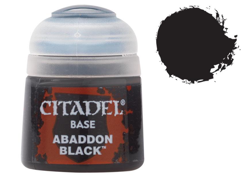 シタデル・ベースコート Abaddon Black(アバドン・ブラック) :ゲームズワークショップ つや消し塗料 21-25