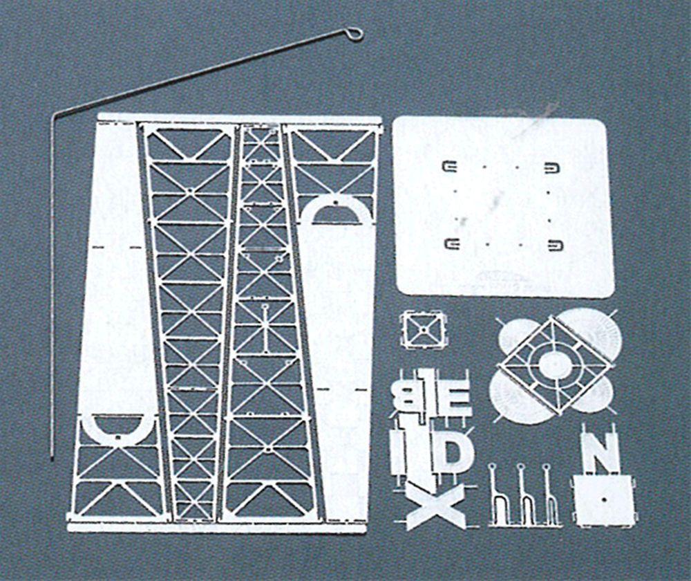 ジービーR-1&BENDIXパイロン 洋白製 :エアロベース キット 1/160 B106