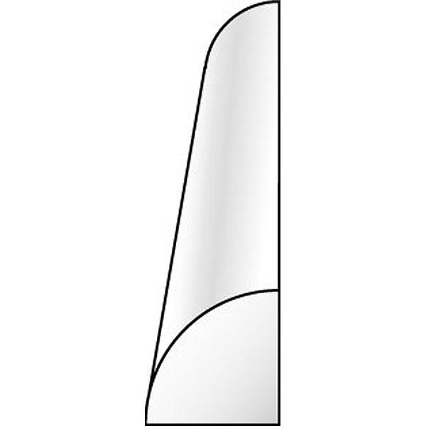 4半円(クォーターラウンド) 0.75 x 350 mm :エバーグリーン プラ材 ノンスケール 246