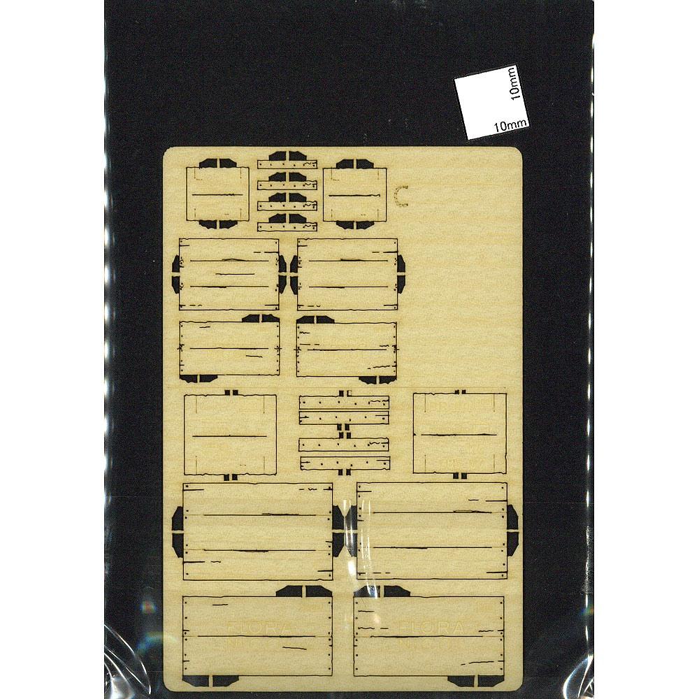 木箱セットC 2ヶ入り :コバーニ 未塗装キット 1/24 ss-012