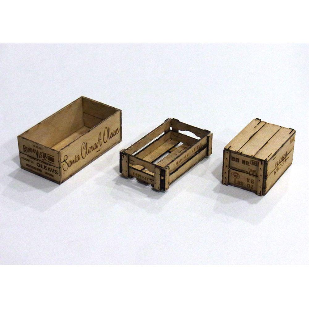 ウッデンボックス3アイテム :コバーニ 未塗装キット 1/12 WF-001