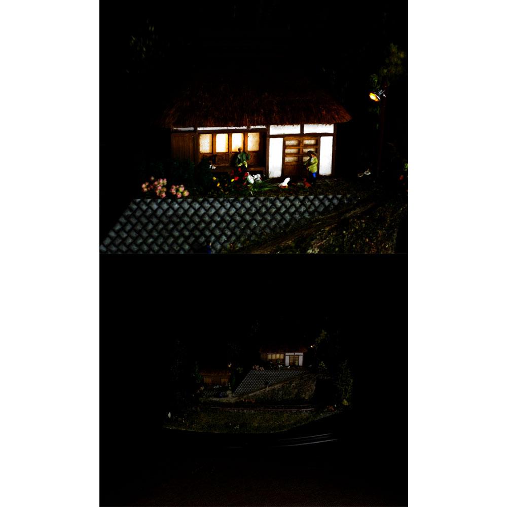 ダイソーケースレイアウト#15 「山奥の農家2」 :石川宜明 塗装済完成品 1/150サイズ
