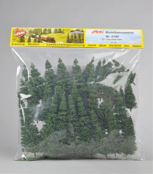 針葉樹 モミの木 7〜14cm 30本 :ヘキ 完成品 ノンスケール 2183