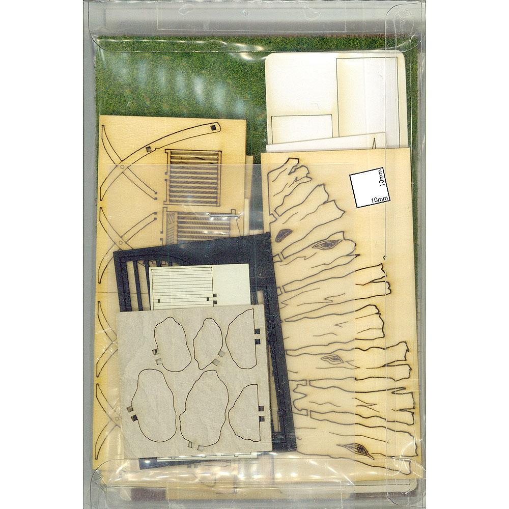 ガーデンエントランス ジオラマセット :コバーニ 未塗装キット 1/24 ss-016