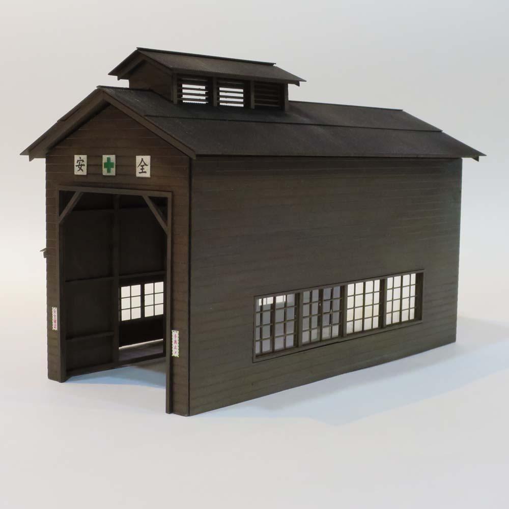 木造単線機関庫 ベーク羽目板仕様 特別完成品 :Chitetsu Corporation(宮下洋一) 未塗装キット HO(1/80) 99970000004