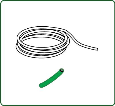 極細コード 外径約0.38mm 緑色 :さかつう 素材 ノンスケール 4514