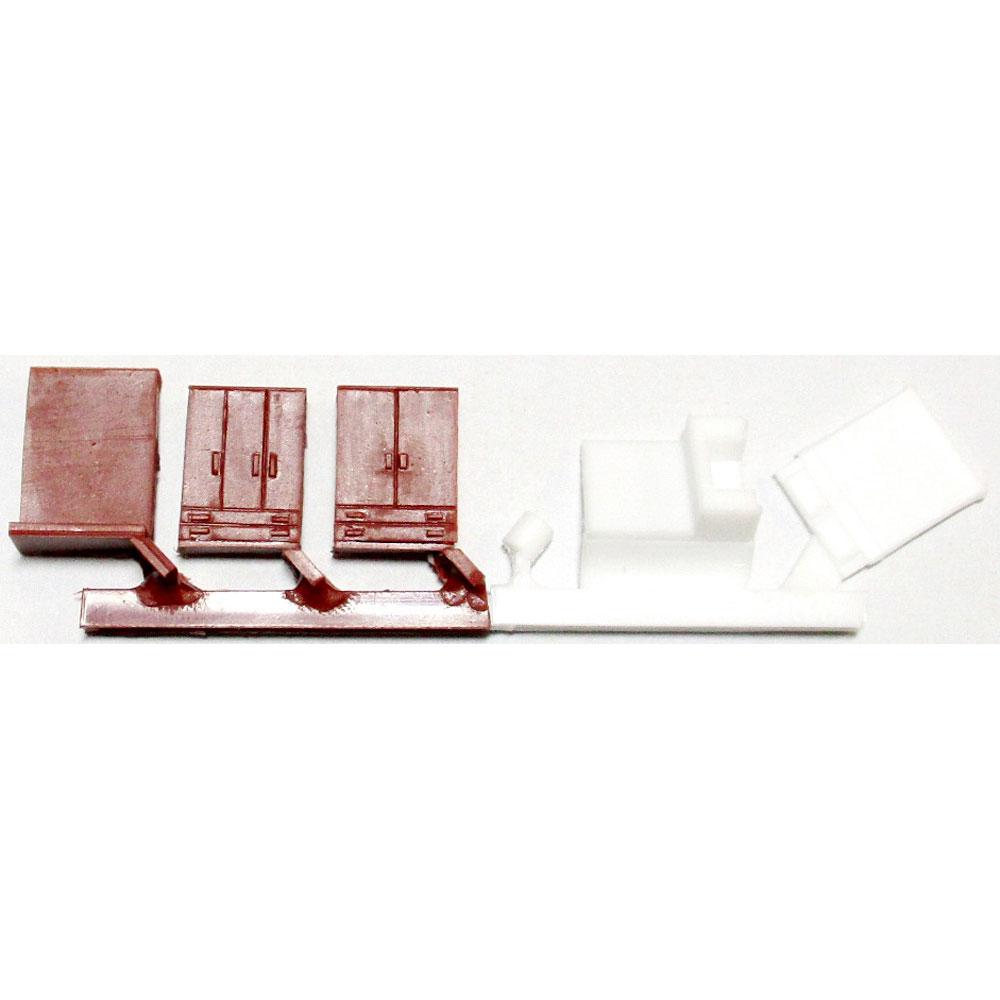 寝室B(茶色) :YSK 未塗装キット N(1/150) 品番396