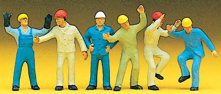ハシゴを登る人を含む作業員 :プライザー 塗装済完成品 HO(1/87) 10105