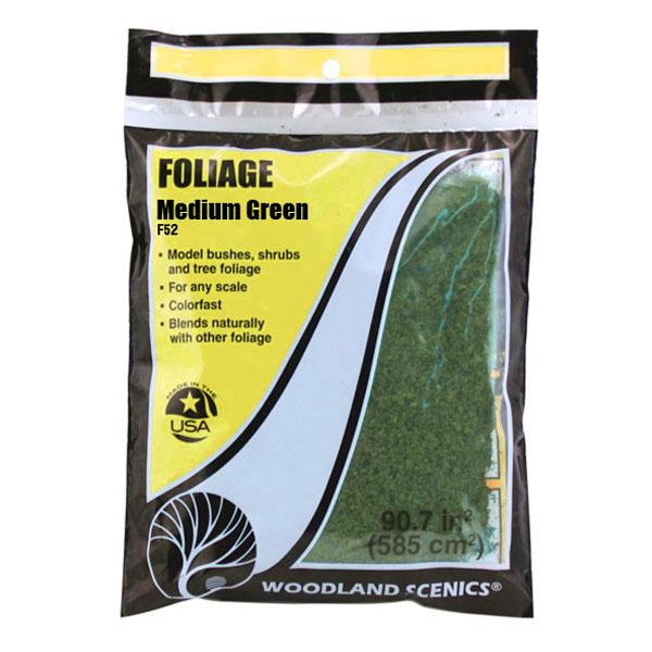 スポンジ系素材 【フォーリッジ】 ミディアム・グリーン(緑) :ウッドランド 素材 ノンスケール F52