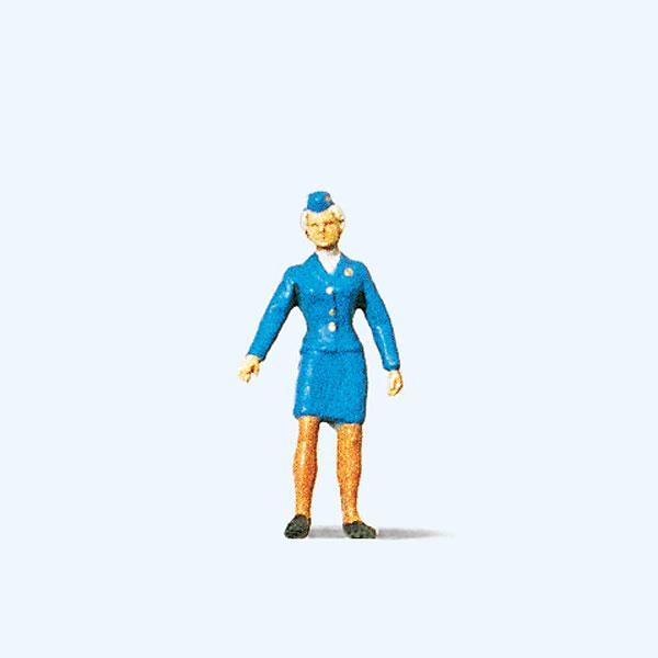 女性の鉄道職員 :プライザー 塗装済完成品 HO(1/87) 28007☆