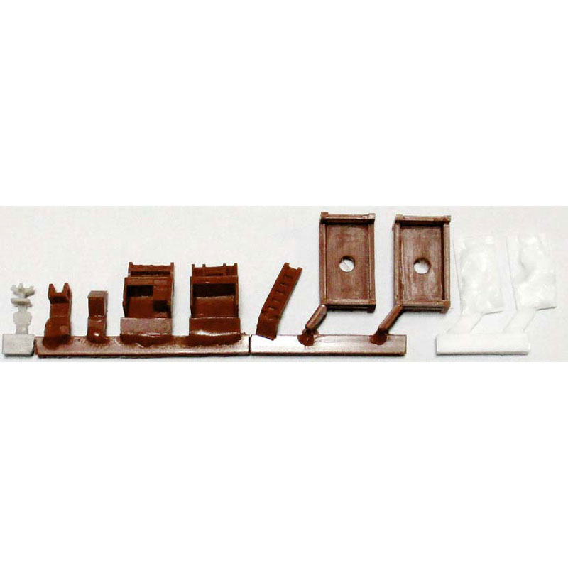 子供部屋(茶色) :YSK 未塗装キット N(1/150) 品番397