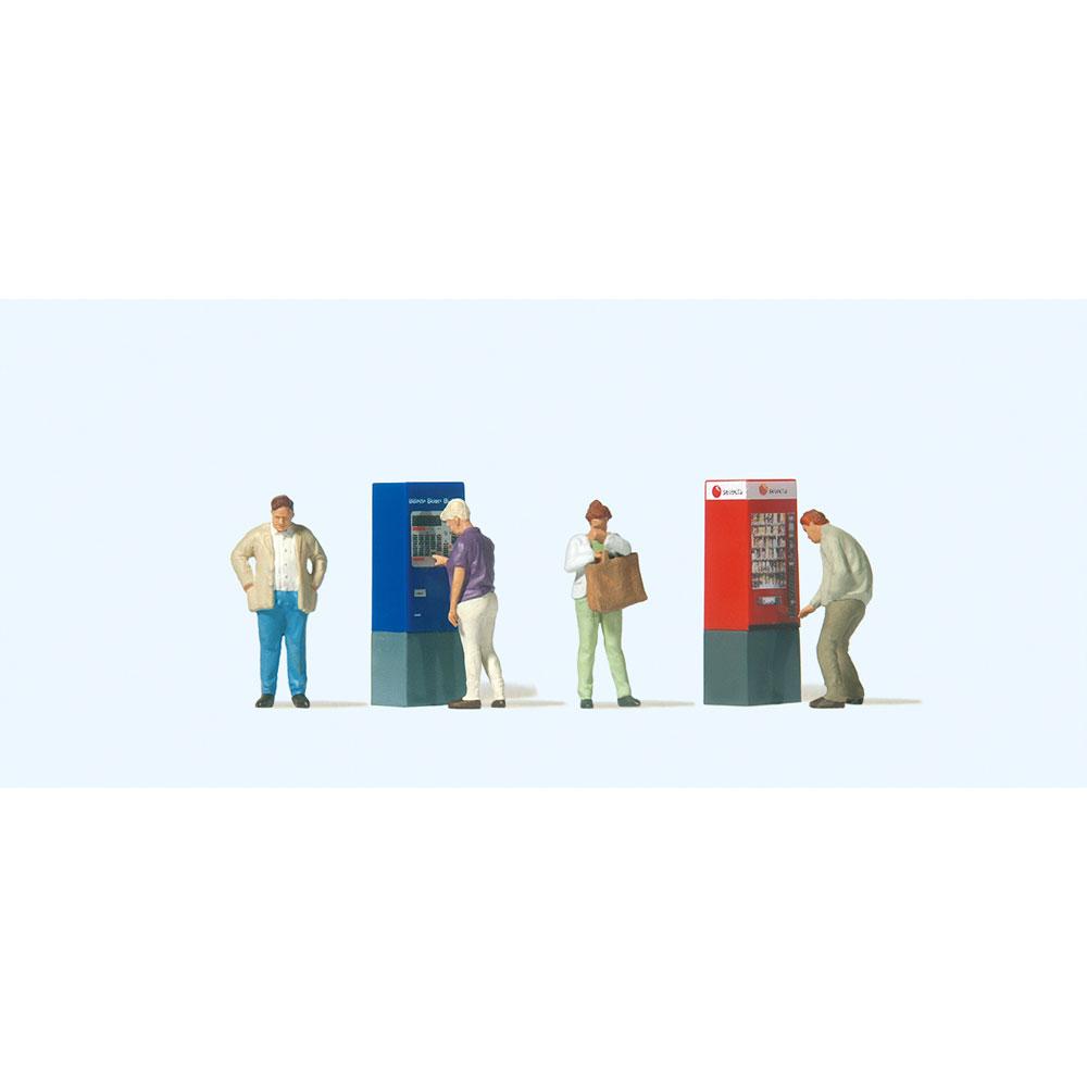 自動販売機を利用する人たち :プライザー 塗装済完成品 HO(1/87) 10751