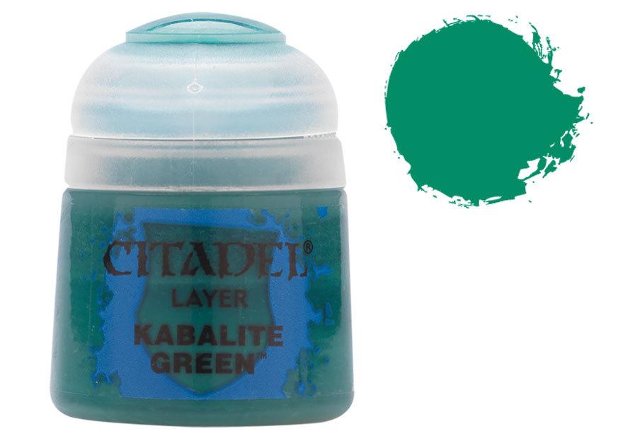 シタデル・レイヤー Kabalite Green(カバライト・グリーン) :ゲームズワークショップ つや消し塗料 22-21