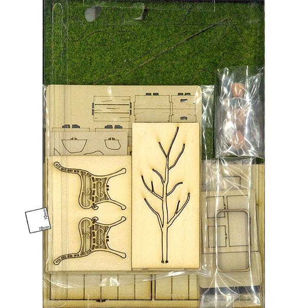 テラコッタタイルのある庭 ガーデンB :コバーニ 未塗装キット 1/24 ss-024
