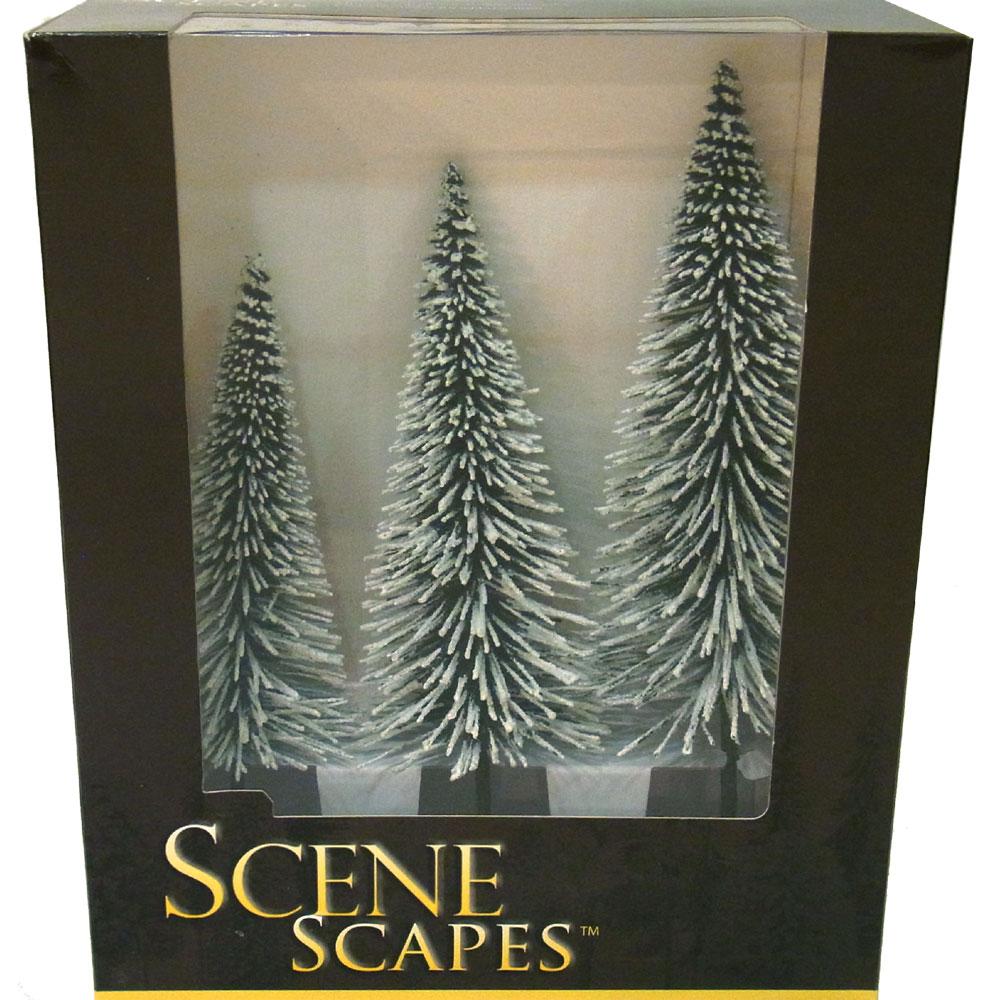 雪を被った冬の松の木(Pine) 20〜25cm 3本 :バックマン 完成品 Oスケール 32202