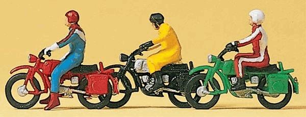 オートバイとライダー :プライザー 塗装済完成品 HO(1/87) 10081