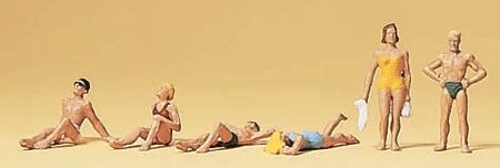 日光浴の人々 :プライザー 塗装済完成品 N(1/160) 79071