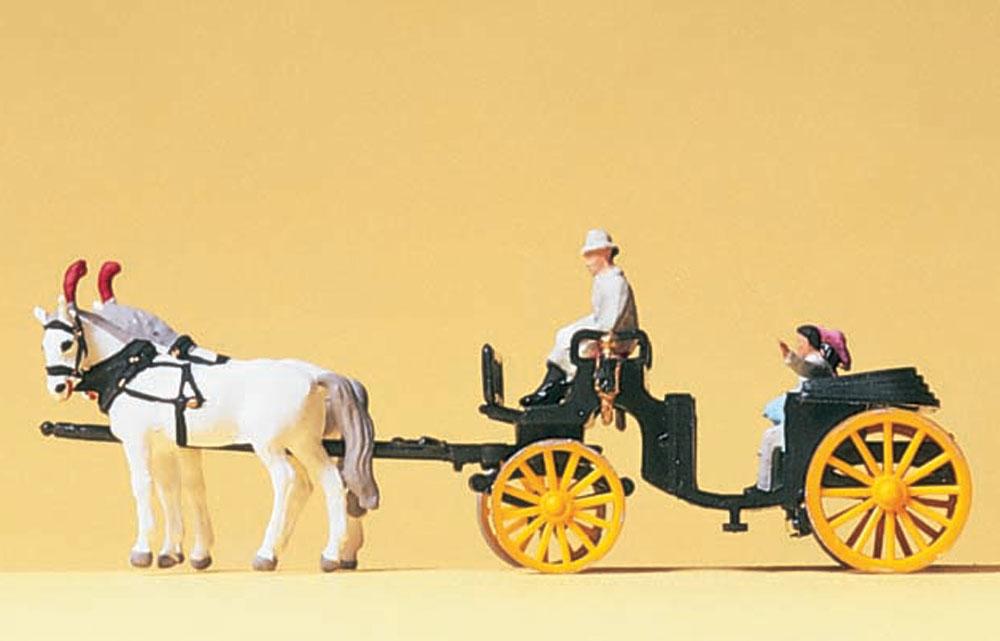 幌を開けた馬車 :プライザー 塗装済完成品 N(1/160) 79481