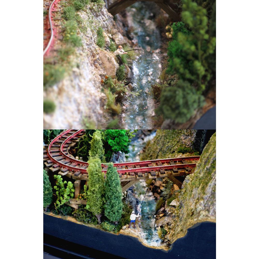 木曽森林鉄道風ジオラマ :石川宜明 塗装済完成品 1/150 スケール