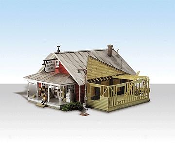 増築中の店舗【LED付き】 :ウッドランド 塗装済完成品 HO(1/87) 5031