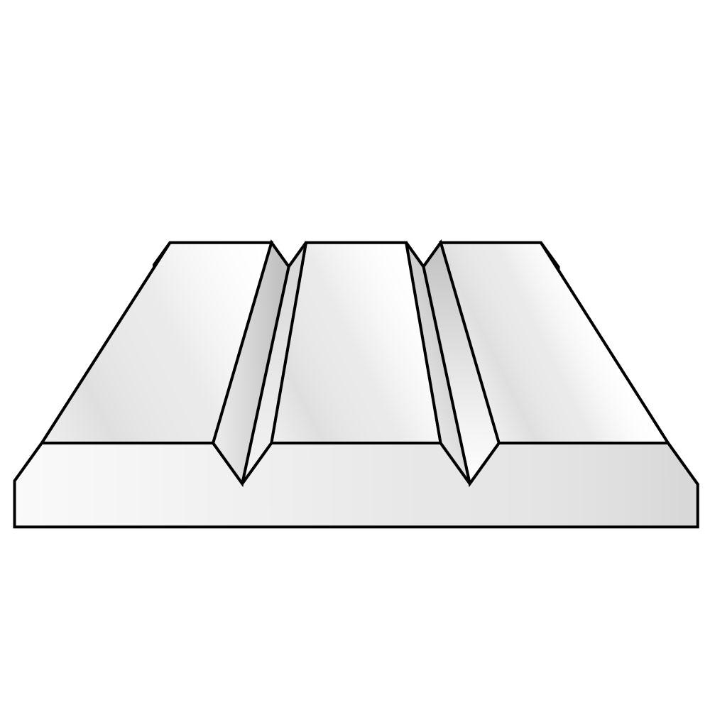 Vグルーブ プラシート 2.5 x 0.5 x 150 x 300 mm :エバーグリーン プラ材 ノンスケール 2100