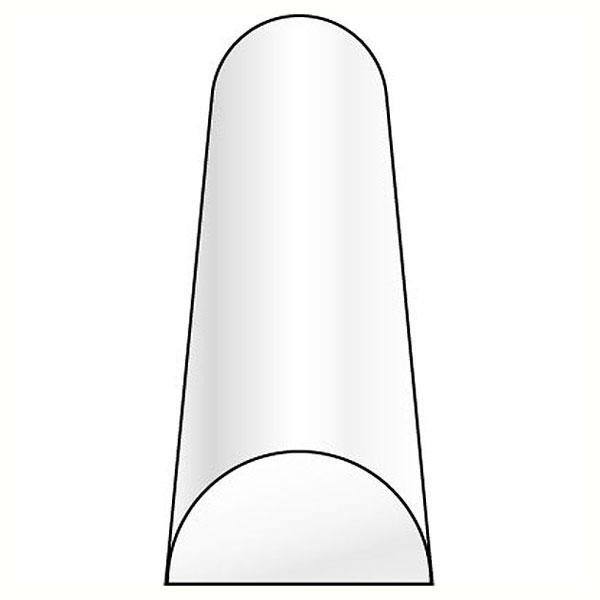 半円(半丸棒)  1.6 x 3.2 x 250 mm :プラストラクト プラ材 ノンスケール 90884