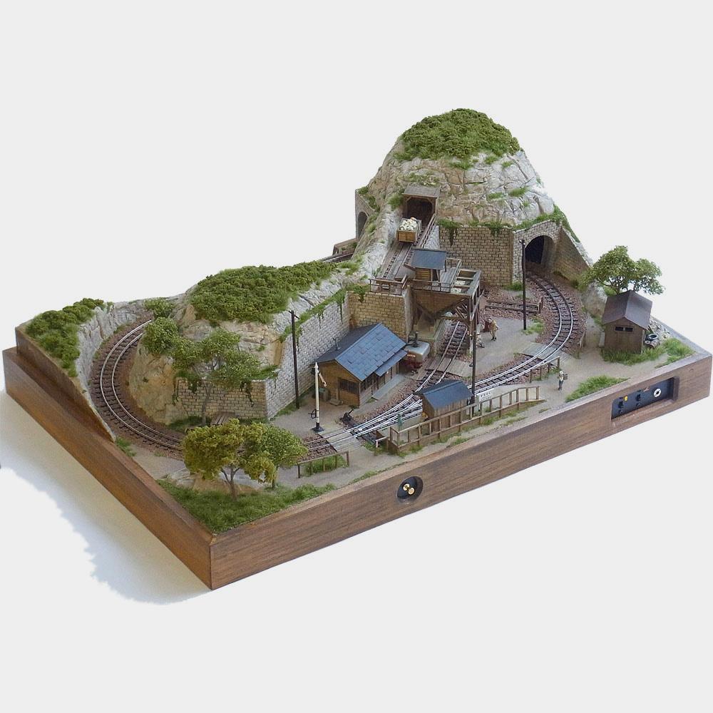 「1/87 軽便鉱業所レイアウト」 :工房ナナロクニ 塗装済完成品 1/87 3007