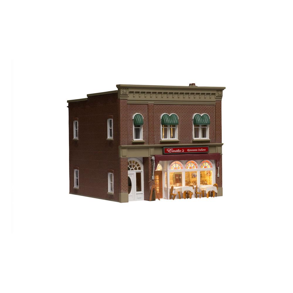 イタリアンレストラン【LED付き】 :ウッドランド 塗装済完成品 HO(1/87) BR5055