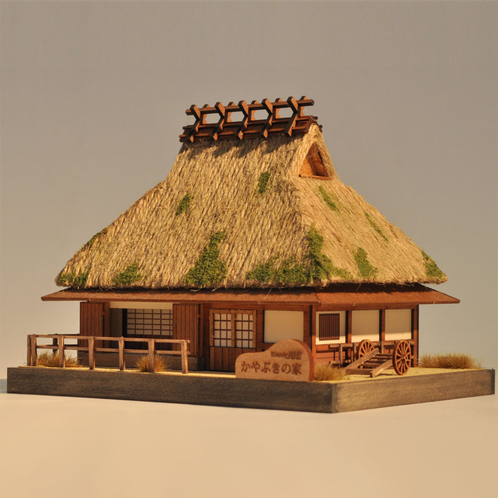 かやぶきの家 :伊藤敏男 塗装済完成品 ノンスケール