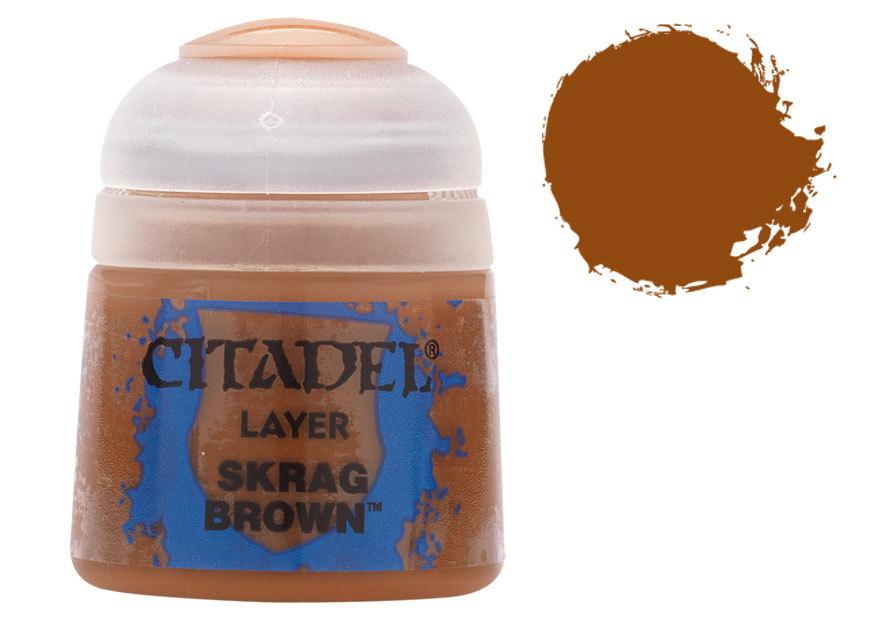 シタデル・レイヤー Skrag Brownスクラッグ・ブラウン) :ゲームズワークショップ つや消し塗料 22-40