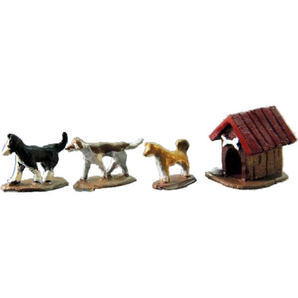 犬セットC<庭の犬> :アイコム 塗装済完成品 ノンスケール MLA-5009