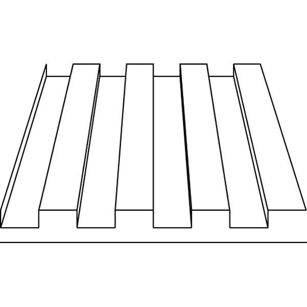 波板(デッキプレート) 1.0 x 1.0 x 150 x 300 mm :エバーグリーン プラ材 ノンスケール 4526