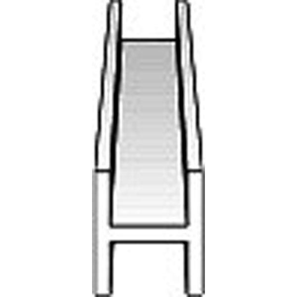 H型棒 (H鋼) 2.5 x 2.4 x 350 mm :エバーグリーン プラ材 ノンスケール 283