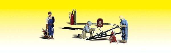 溶接作業員と道具 :ウッドランド 塗装済完成品 N(1/160) 2157