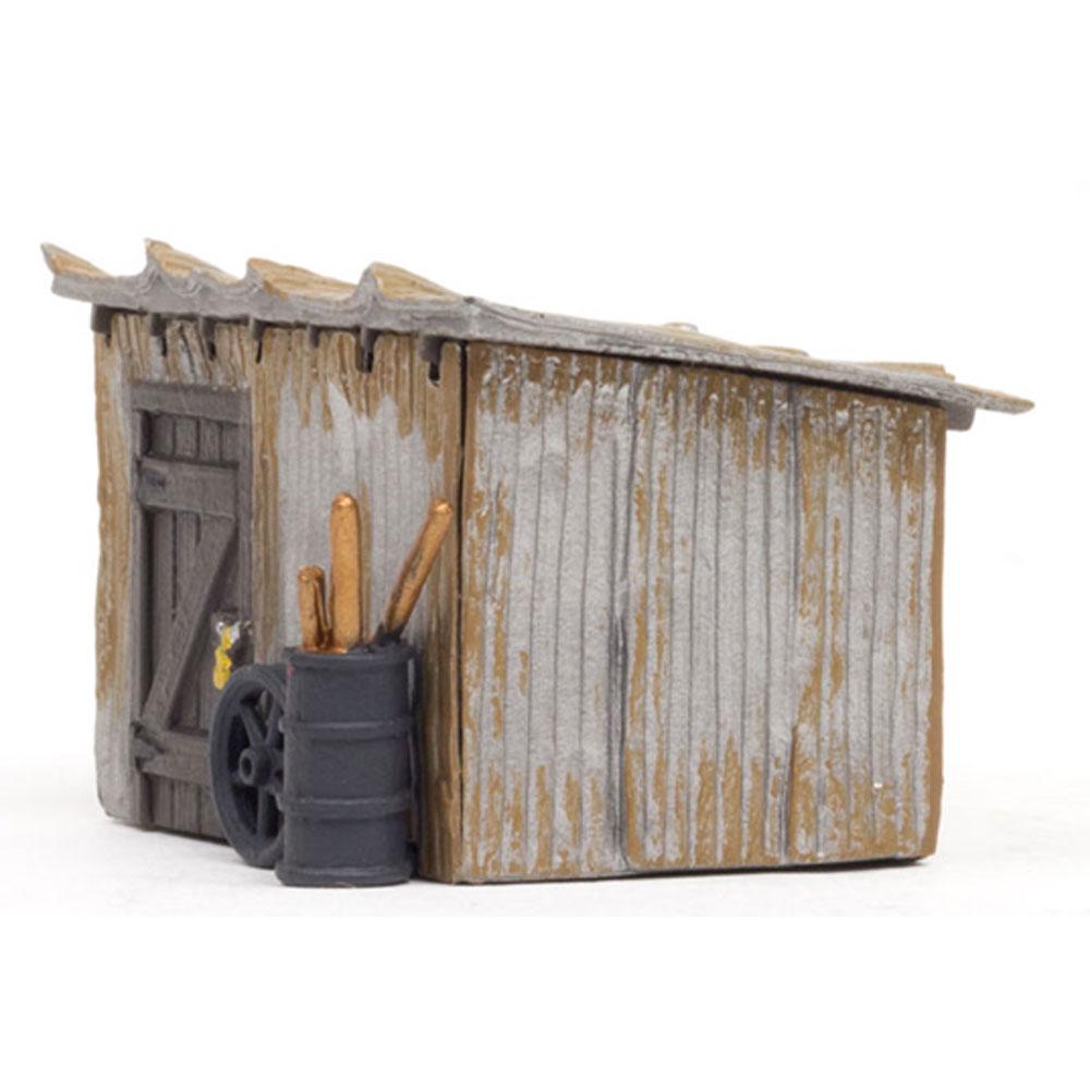トタン小屋 :ウッドランド 塗装済完成品 HO(1/87) BR5056