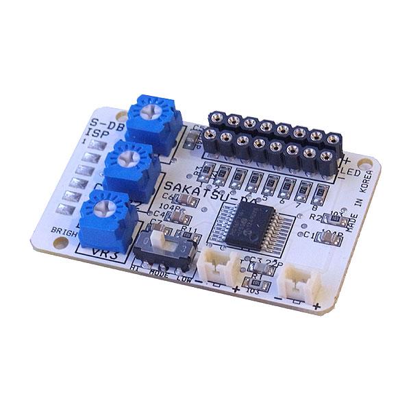 点滅制御 スーパー8 増設基板(コネクタ付LED用 8灯取付け可能) :さかつう 電子部品 2577