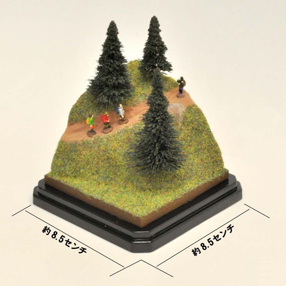 手のひらジオラマ ハイキング 製作手引書付き:さかつうギャラリー 初心者向け製作キット 入門用 9005
