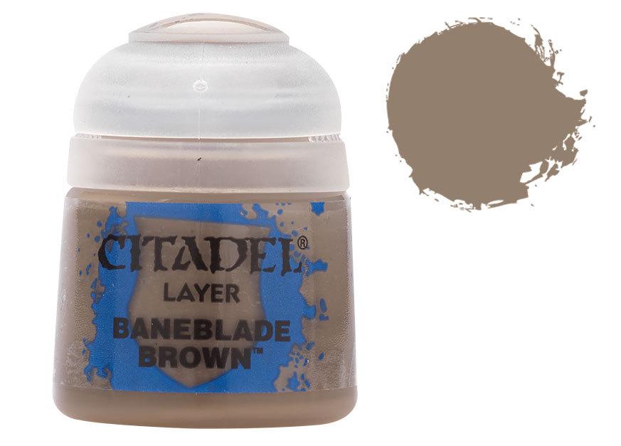 シタデル・レイヤー Baneblade Brown(ベインブレイド・ブラウン) :ゲームズワークショップ つや消し塗料 22-48