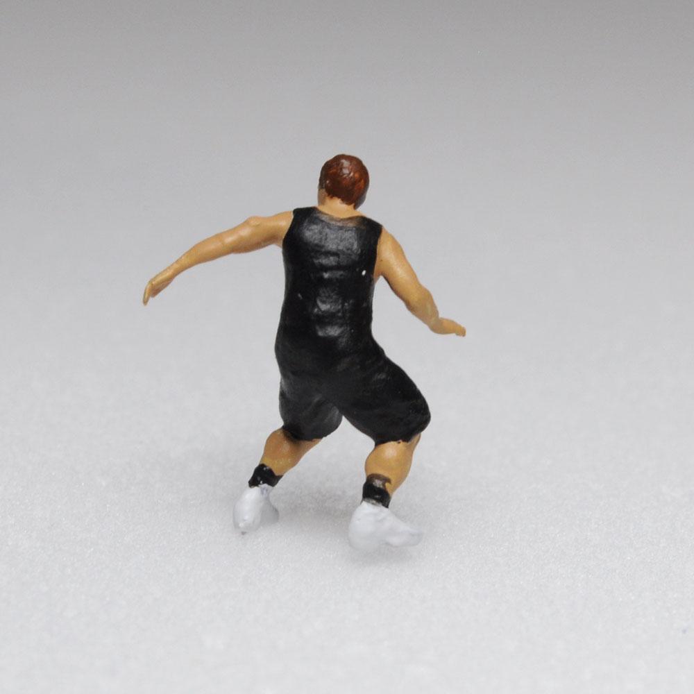 アスリート人形 バスケットボール ディフェンスA :さかつう 3Dプリント 完成品 HO(1/87) 206