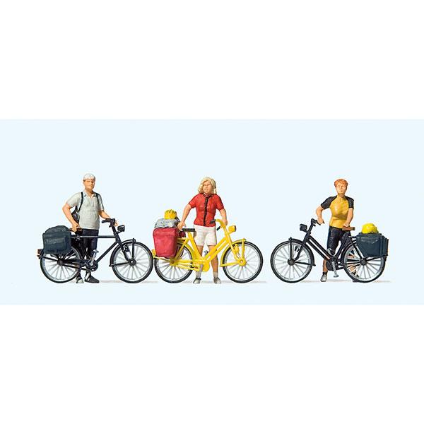 スポーツウェアを着たサイクリスト(1) 自転車ツーリング :プライザー 塗装済完成品 HO(1/87) 10643