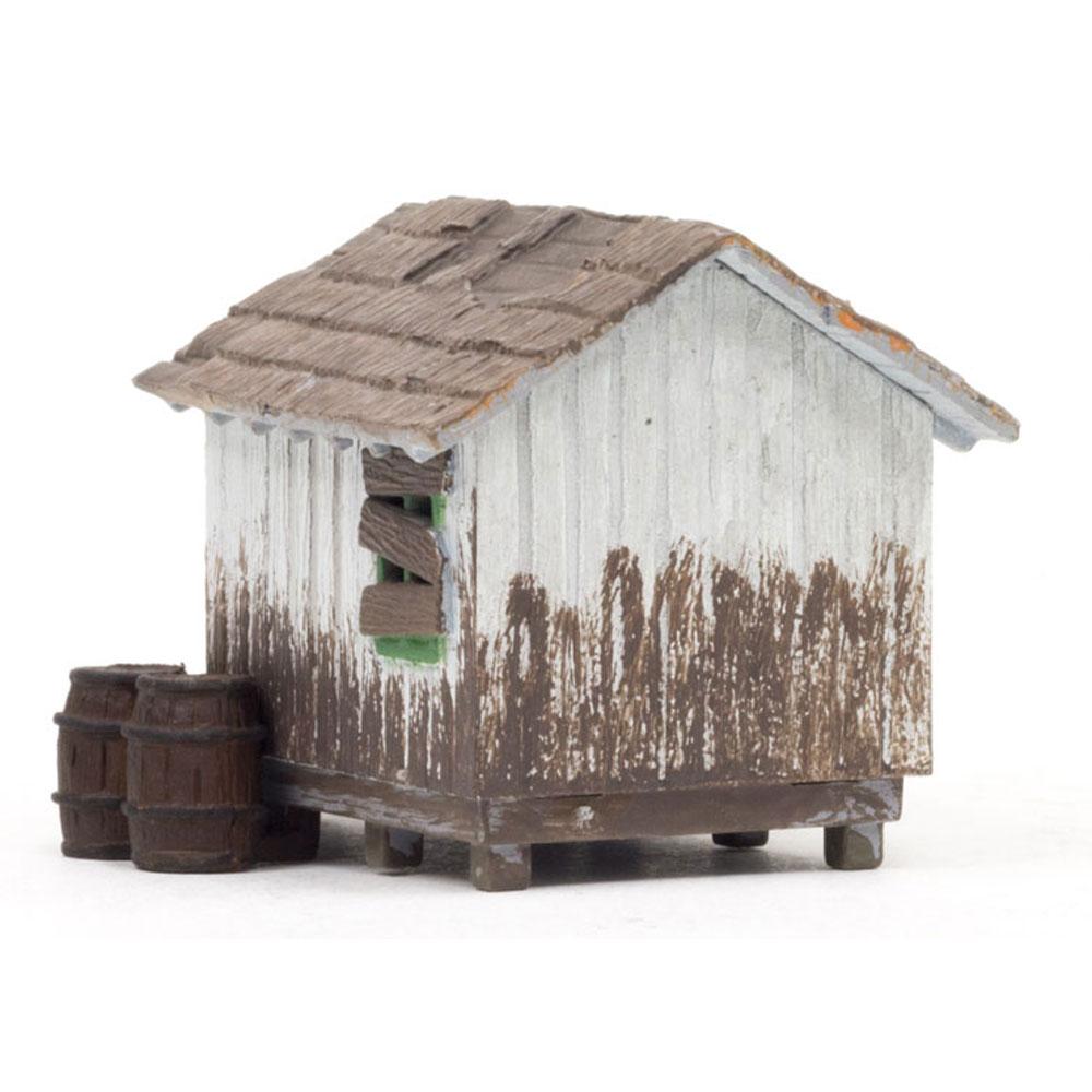 木の小屋 :ウッドランド 塗装済完成品 HO(1/87) BR5058