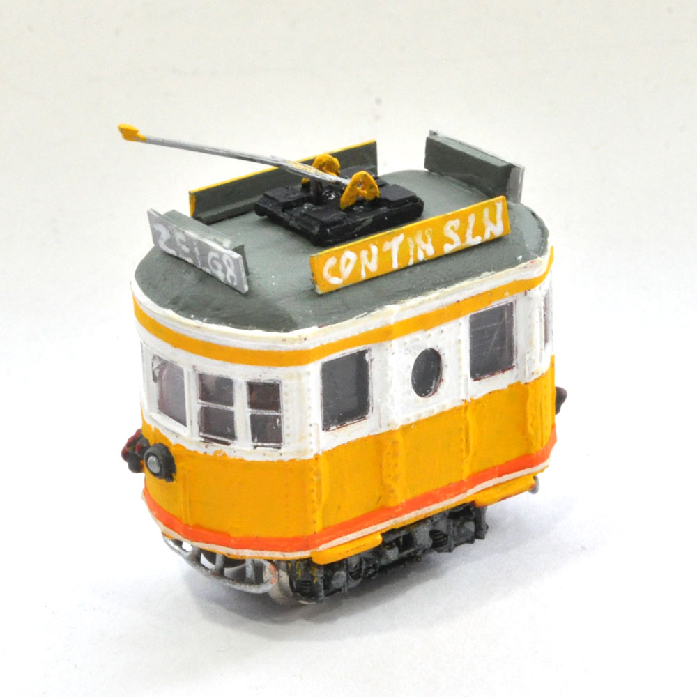 電池内蔵自走式 ミニミニトレイン <黄> ポール仕様 :石川宜明 塗装済完成品 N(1/150)