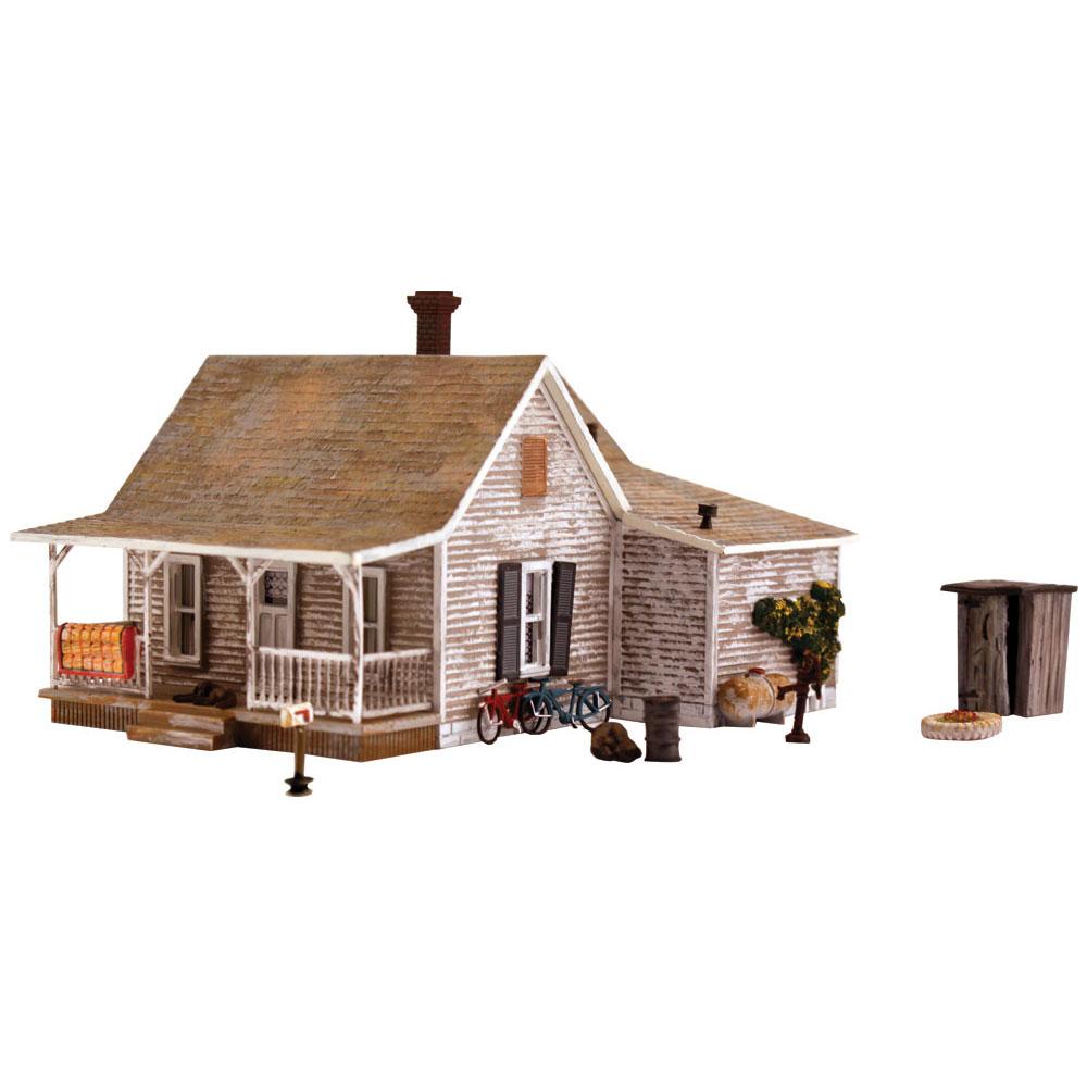 オールドホームステッド(古い家屋敷)【LED付き】 :ウッドランド 塗装済完成品 HO(1/87) 5040