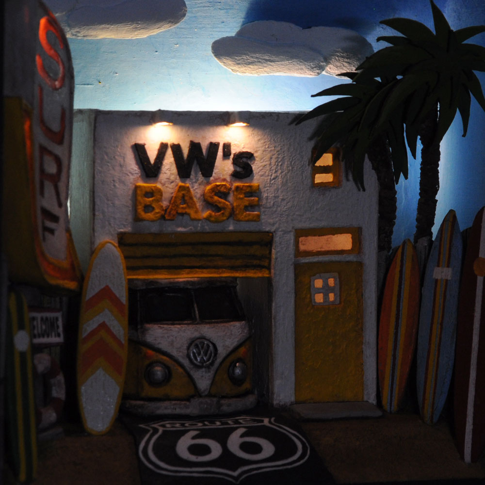 情景箱 「VW's BASE  SURF」 :川田崇司 塗装済完成品 ノンスケール