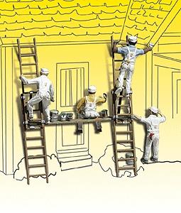 ペンキ塗り職人 :ウッドランド 塗装済完成品 N(1/160) 2174