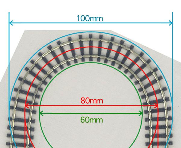 ミニミニトレイン用レール R40オーバル ダイソーケース対応(20×10cm) :石川宜明 鉄道 線路9mmゲージ N(1/150)