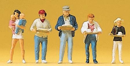 セルフサービスのレストランの人々 :プライザー 塗装済完成品 HO(1/87) 10367