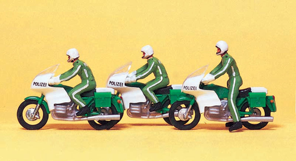 オートバイに乗った警察官 :プライザー 塗装済完成品 HO(1/87) 10489