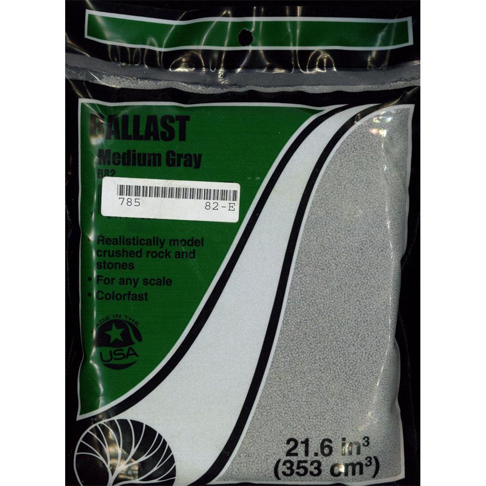 石系素材 バラスト(砂利)中 灰色 :ウッドランド 素材 ノンスケール B82